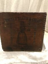 Antique Bakers   Chocolate  Wooden Box 12#    Paris Exposition 1900  #2