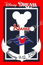 4x6 Disney Cruise Door Magnet - NAUTICAL MICKEY - OR - MINNIE