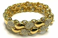 Ladies Solid 18ct 750 Yellow Gold Diamond Bracelet 52.10g valuation $16630