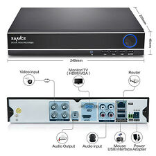 SANNCE HD 1080N 4in1 4CH CCTV DVR for Home Security System P2P Remote Access