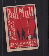 Ancienne étiquette allumettes  Belgique  AA176 Pall Mall Ciagarettes