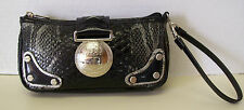 XOXO Snake Python Print Black & Gray Wristlet Clutch Handbag Purse Wallet