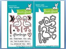 Lawn Fawn Photopolymer Clear Stamp & Die Combo FLAMINGO TOGETHER ~LF1173, LF1174