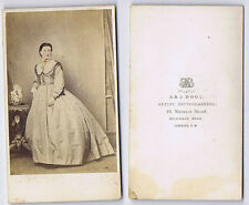 CDV Victorian Lady Coloured Carte de Visite Photograph by Bool of London
