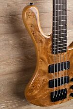 2017 Wolf S8-5 Natural 5 String Neck Through Bass
