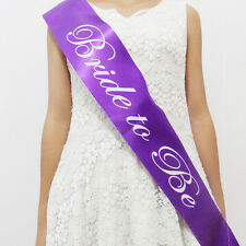 New Hen Night Party Satin Sashes BRIDE TO BE Honor Sash Wedding Bridal Accessory