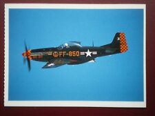 POSTCARD AIR P-51 MUSTANG FIGHTER PLANE (1)  WARBIRDS GHOSTS FROM THE PAST