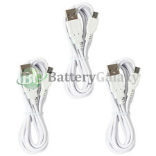 3 White Micro USB 6FT Battery Data Charger Cable for LG Phoenix K3 K4 K7 K8 K10