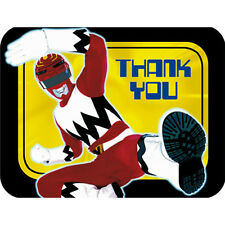 POWER RANGERS THANK YOU NOTES Cards Birthday Party Child Boys Red Ninja Kids NEW