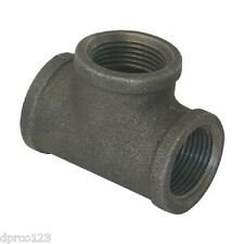 """3/4"""" BLACK MALLEABE TEE PIPE THREAD 3 WAY OUTLET GAS FITTING"""