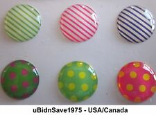 Stripe Dot Home Button Stickers for Apple iPhone iPad Air Mini Pod Touch