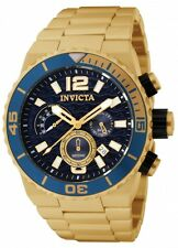 Invicta Men's Pro Diver Chrono 100m Gold Plated Stainless Steel Watch 1344