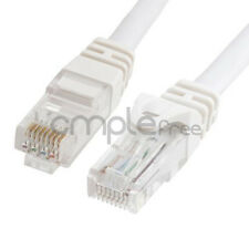 25FT CAT6 Cable Ethernet Lan Network CAT 6 RJ45 Patch Cord Internet White NEW