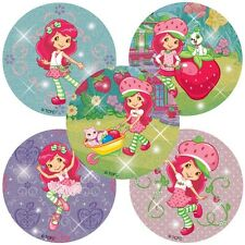 "20 Strawberry Shortcake Glitter Stickers, 2.5""x2.5"" ea., Party Favors"