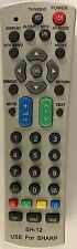 Universal Remote Control SH-12 for Sharp TV AV DVD Players