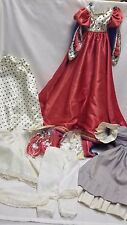 VINTAGE DOLL PRINCESS DRESSES, SHOES LOT  OF 7