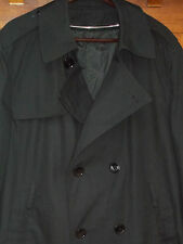 DSCP Trench Coat 44R Mens Garrison Black Double Breasted Zip Out Liner MT78
