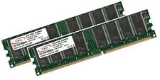 2x 1GB 2GB Low Density DDR RAM Speicher PC 2700 333 Mhz DDR1 184pin PC2700U DIMM