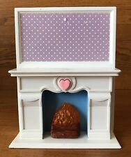 1994 Hasbro Barbie Doll Size Flickering Fireplace With Light And Sound Works
