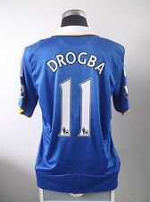 DIDIER DROGBA # 11 CHELSEA HOME FOOTBALL SHIRT JERSEY 2008-2009 (L)