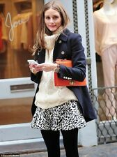 ZARA LEOPARD ANIMAL MINI SKIRT OLIVIA PALERMO BLOGGERS SIZE XS S UK 6 8