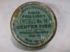 old J GOLDMARKS PERCUSSION CAP TIN - Central Fire - Theodore Wehle NY WINCHESTER