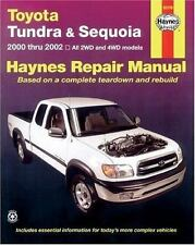 Toyota Tundra and Sequoia 2000 Thru 2002: Hy Repair Manual Haynes 92078