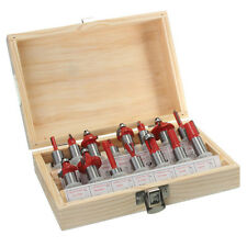 15pcs 1/2 Inch Shank Carbide Router Bit Set Woodworking Milling Cutter with Wood
