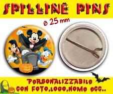 Spilla Spillina Pins 25 mm Collezione Halloween Disney Pippo Pluto e Paperino pi