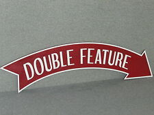 Large Old Fashioned Vintage Style DOUBLE FEATURE Movie Arrow Sign