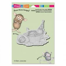HOUSE MOUSE RUBBER STAMPS CLING CUPCAKE COMA NEW STAMP