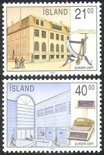 Iceland 1990 Europa/Post Offices/Letter Scales/Buildings/Mail 2v set (n23554)