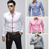 New Mens Slim Fit Designer Luxury Formal Casual Shirt 2013 Latest Collection UK