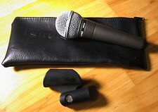 Shure SM58-LC Cardioid Handheld Dynamic Microphone With Zippered Case & Adapter