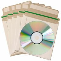 100 CD CD-R DVD Mailers Envelopes Mailer with Seal Post Protect Envelope Cover