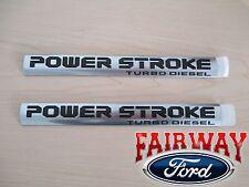 2017 Super Duty OEM Genuine Ford Power Stroke Turbo Diesel Emblems PAIR OF 2 NEW