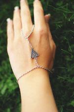 Silver jewellery Hand harness, Ring Bracelet, hand chain, slave bracelet