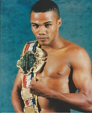 FELIX TRINIDAD  8X10 PHOTO BOXING PICTURE CLOSE UP WITH BELT