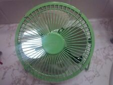 Checkys Deals 4 inch metal usb powered fan office computer desk portable green
