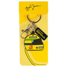 Ayrton Senna Key chain Helmet yellow AS-14-870