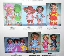 "NG Creations Seven Sewing Patterns fit 13"" Galoob Baby Face Doll"