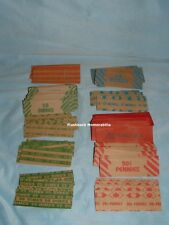 186 Pc. VINTAGE Flat Paper COIN WRAPPER Lot 1 -25 Cent 10 DIFFERENT DESIGNS Nice