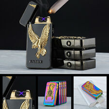 Fashion Electric Dual arc USB Rechargeable Flameless Cigarette Cigar Lighter Dk
