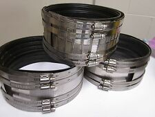 "IDEAL/TYLER/ANACO 8"" No-Hub Standard Coupling, 4 Bands, Lot of 9 MIXED BRANDS"