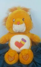 """JUMBO CARE BEARS COUSIN PLUSH BRAVE HEART LION 21"""" TALL Copyright 2004 WITH TAG"""