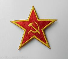 RUSSIAN RUSSIA SOVIET STAR EMBROIDERED LOGO ARM PATCH 3 INCHES