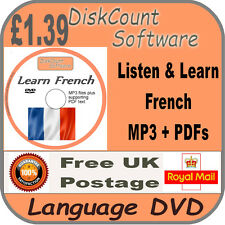 Listen & Learn French language courses cd mp3 audio & texte
