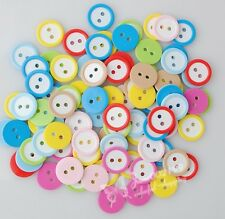 200pcs Mix round Plastic/resin Buttons 2 holes Sewing Crafts Kid's lots JAB008
