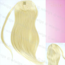 Wiwigs Pale Blonde 1 Piece Straight Clip In Ladies Ponytail Wrap Hair Extension