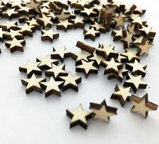 Popular 100pcs Wooden Blank Small Star Shapes Embellishments Crafts sc555